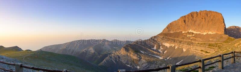 Pico de Olympus Stefani da montanha em Grécia fotografia de stock