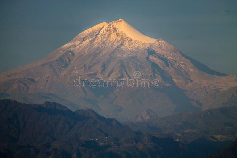 Pico de Orizaba-vulkaan stock afbeelding