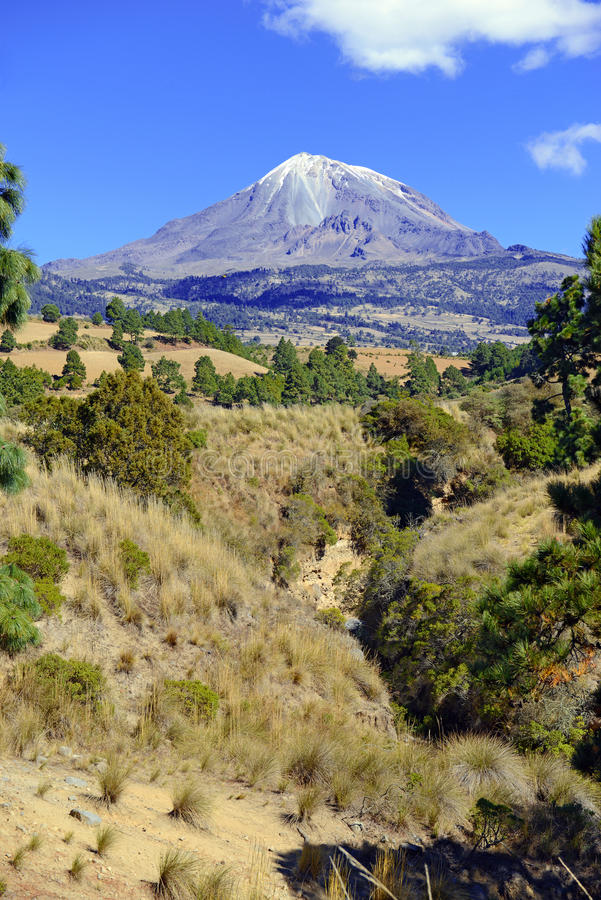 Pico DE Orizaba vulkaan, Mexico royalty-vrije stock foto's