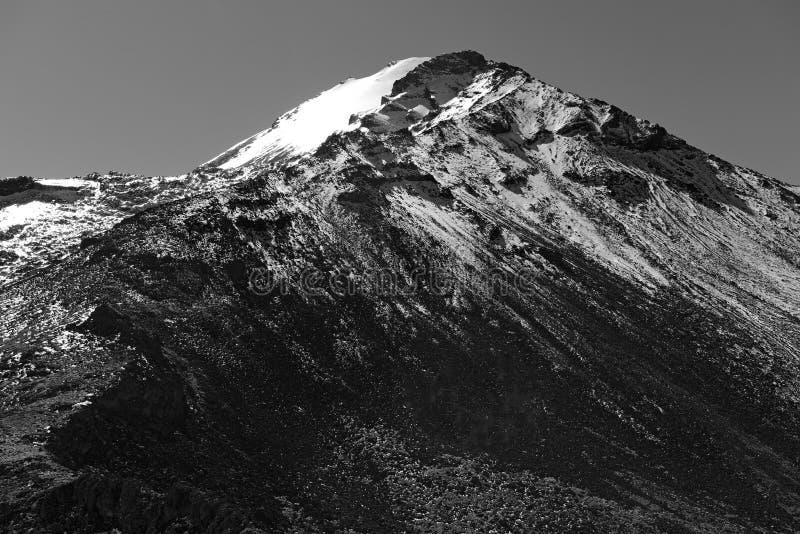 Pico DE Orizaba vulkaan, Mexico stock afbeeldingen