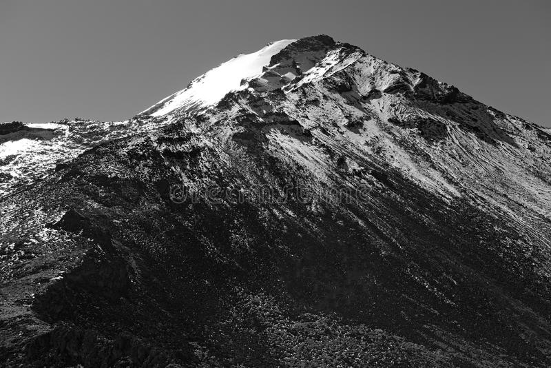 Pico- de Orizabavulkan, Mexiko stockbilder