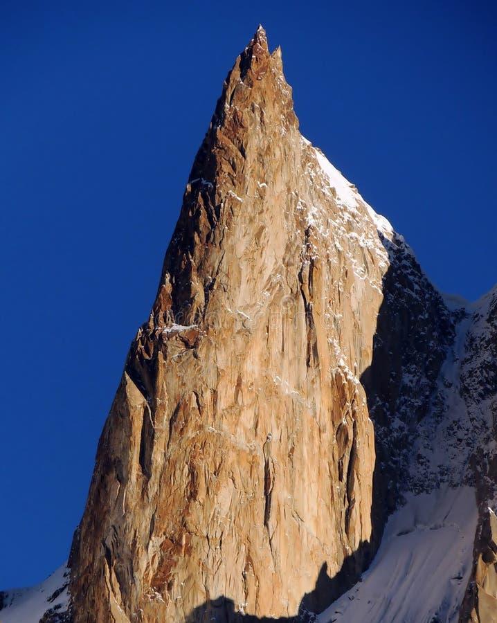 Pico del melindre de la cordillera de Karakoram fotografía de archivo libre de regalías