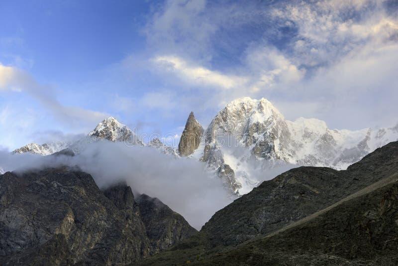 Pico del melindre, Hunza, Paquistán imagen de archivo libre de regalías