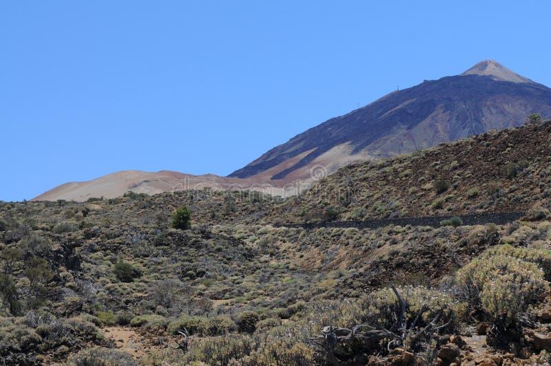 Pico del Teide. On Teneriffa island stock images