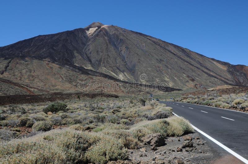 Pico del Teide. On teneriffa island stock photography