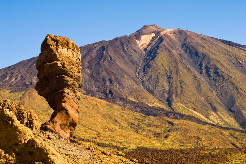 Pico del Teide. Tenerife, Spain´s highest mountain royalty free stock images