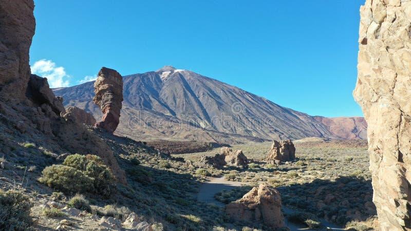 Pico del Teide, el más alto, Roques de GarcÃa imagen de archivo