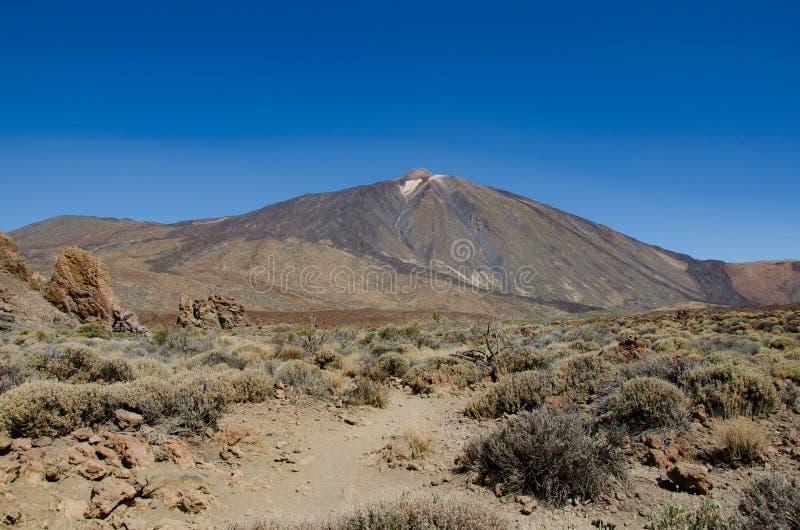 Pico del Teide volcano peak in Tenerife, Canary Islands stock images