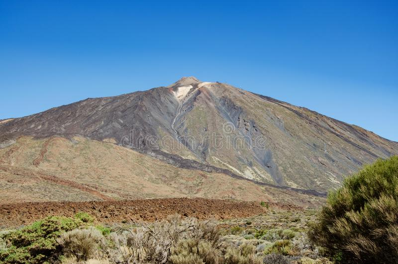 Pico del Teide volcano peak in Tenerife, Canary Islands royalty free stock images