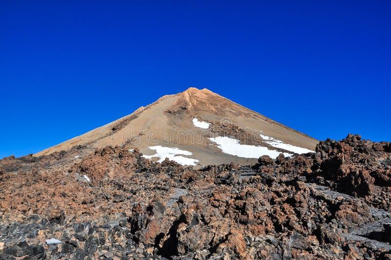 Pico del volcán del EL Teide fotografía de archivo libre de regalías