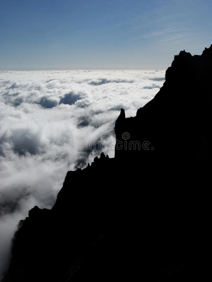 Pico do arieiro, madeira, portuga stock photos
