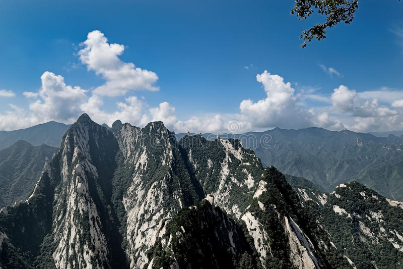 Pico do leste na montagem Hua China imagem de stock