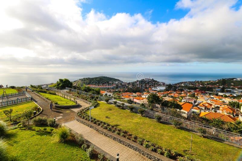 Pico DOS Barcelos, Funchal, madeira royaltyfri foto