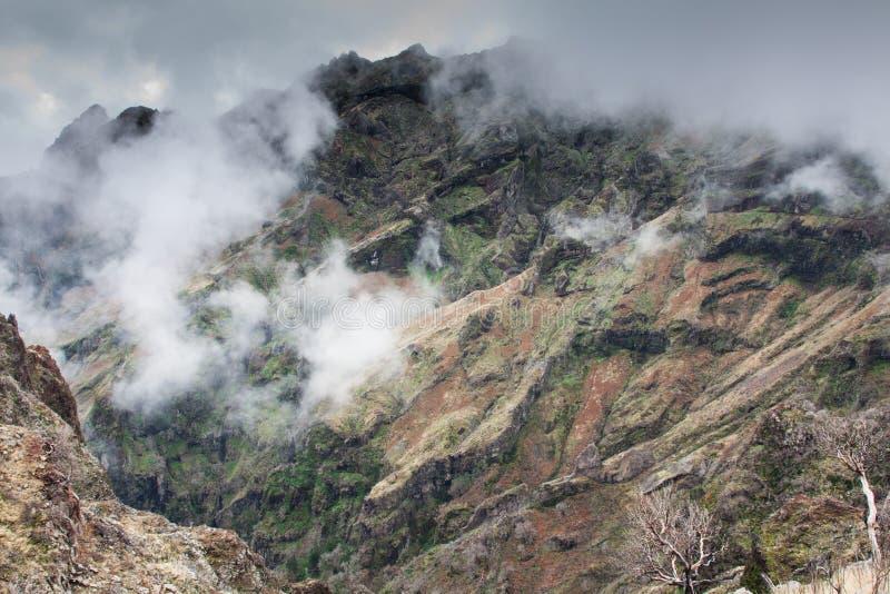 Pico hace Arieiro en la isla de Madeira, Portugal imágenes de archivo libres de regalías