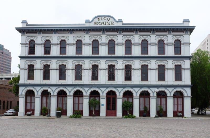 Pico House l'hotel più esagerato e più sontuoso allora è stato costruito da Pio Pico fotografia stock