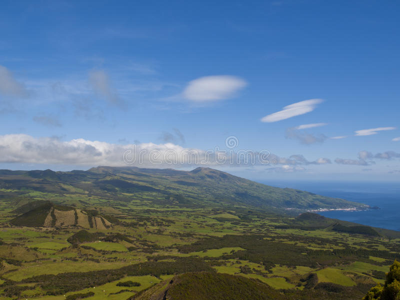 Pico island and ocean