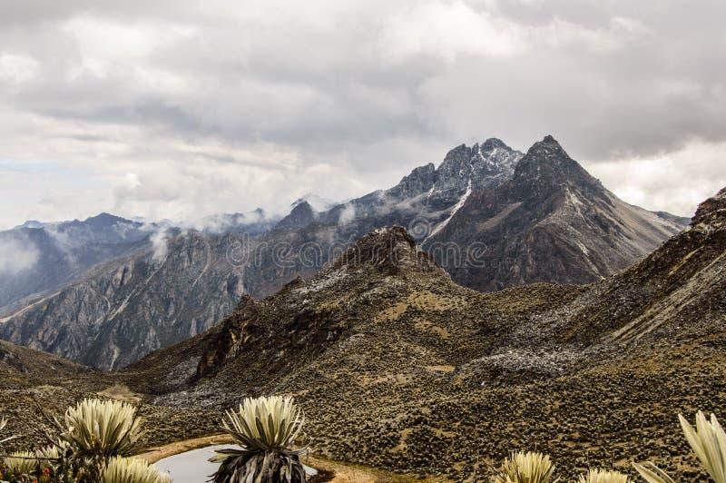 Pico Los Nevados imagens de stock