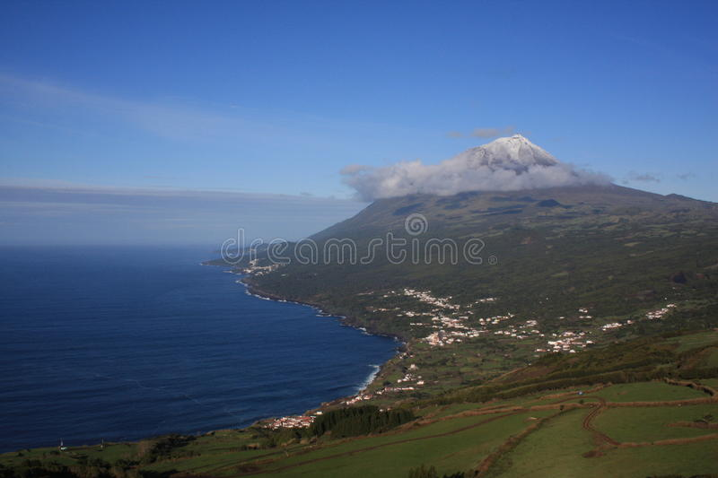 Pico mountain landscape royalty free stock photos