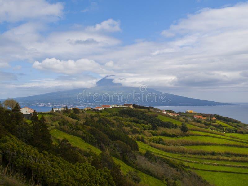 Pico mountain view royalty free stock photos