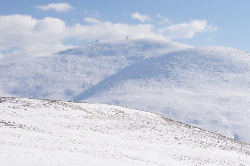 Pico no inverno, Bulgária de Golyam Kademlia fotos de stock royalty free