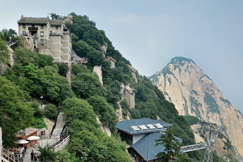 Pico norte na montagem Hua China fotos de stock royalty free