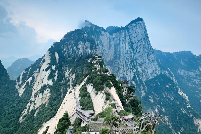 Pico norte na montagem Hua China fotografia de stock royalty free