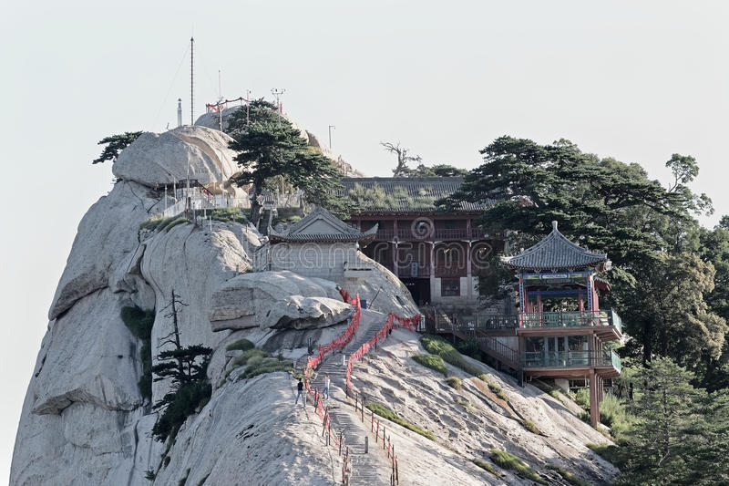 Pico ocidental na montagem Hua China imagens de stock royalty free