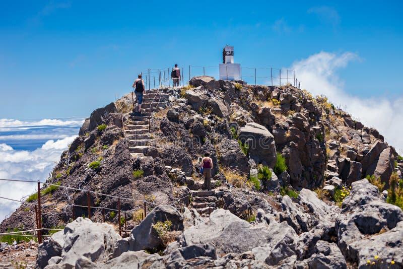 Pico Ruivo, Madeira Island. Pico Ruivo is the highest peak on the Madeira Island, Portugal royalty free stock image