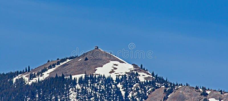 Pico y Firetower de la india imagen de archivo