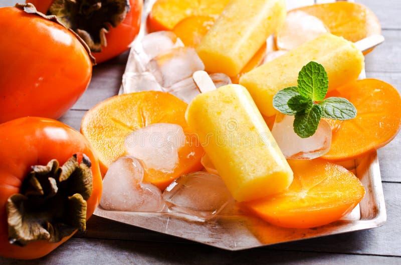 Picolé caseiro do fruto imagens de stock