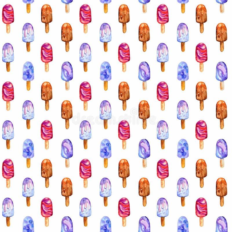 Picolés - cópia Sobremesa doce do verão Bagas congeladas ilustração stock