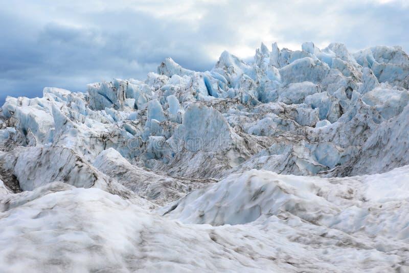 Picos agudos del glaciar fotos de archivo