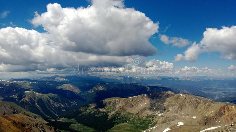 Picos de Colorado fotografia de stock royalty free