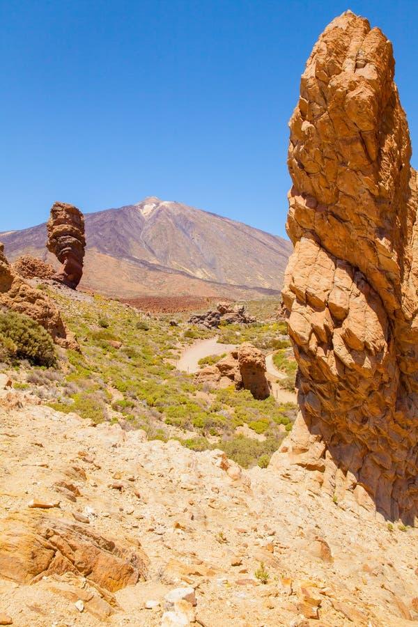 Picos de la lava del parque nacional de Teide imagenes de archivo
