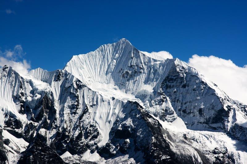 Picos de la nieve fotografía de archivo libre de regalías