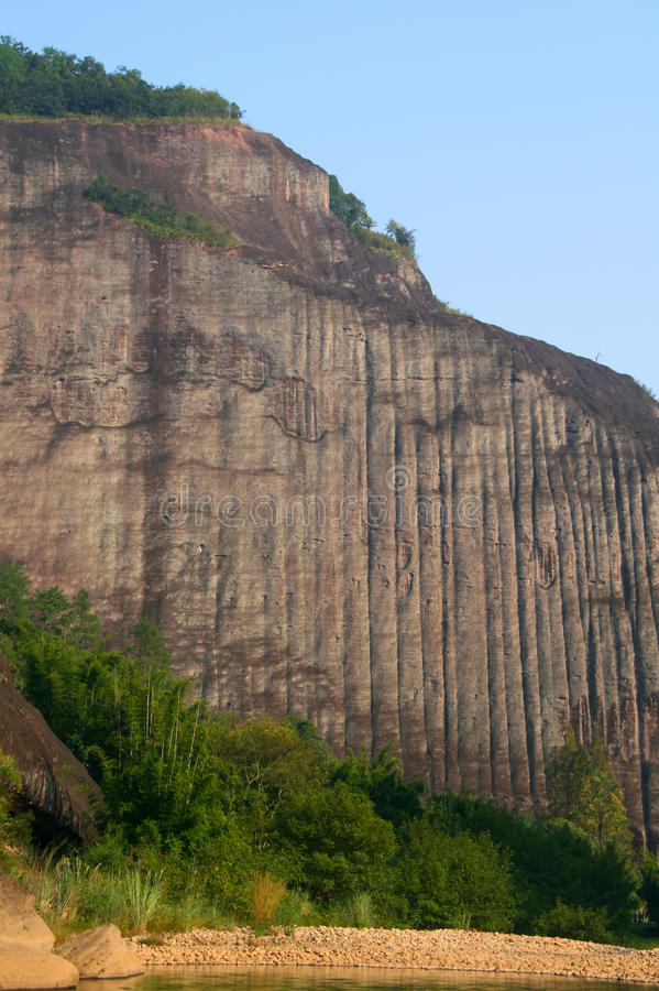 Picos de montañas de Wuyi, China fotografía de archivo libre de regalías