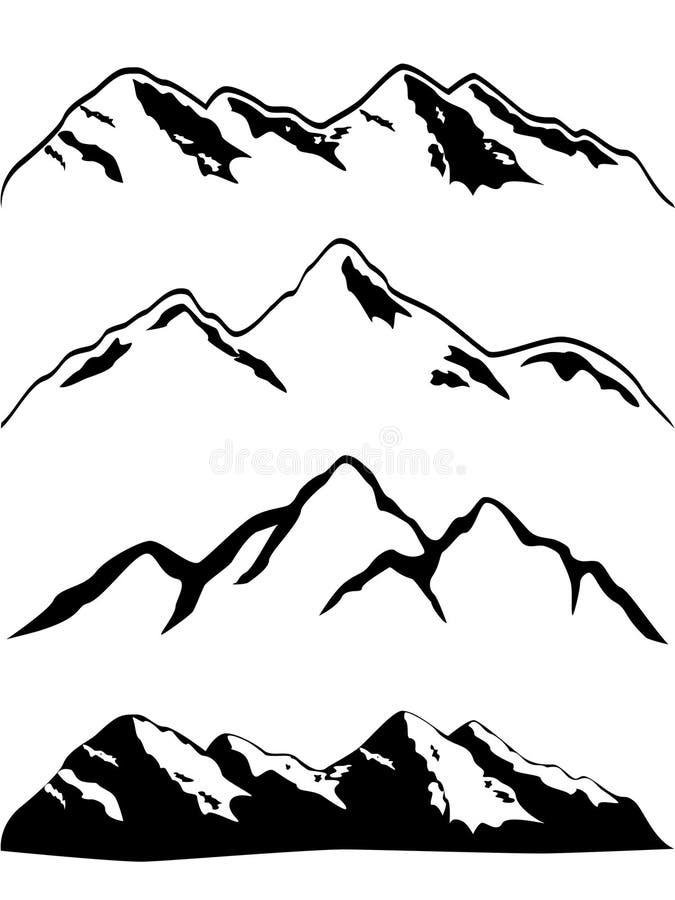 Picos de montanha ilustração royalty free