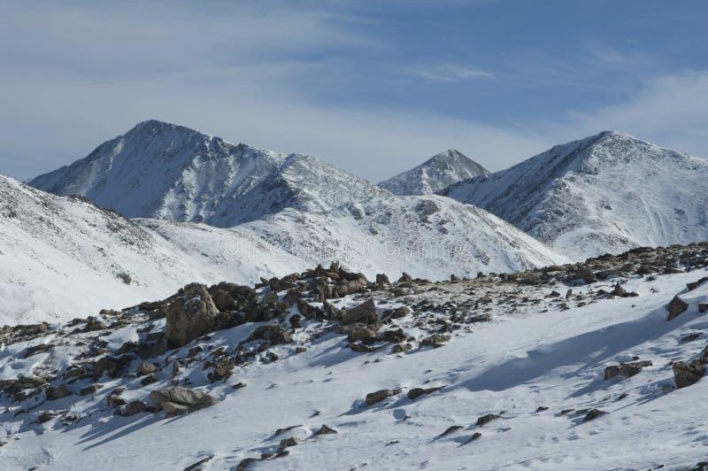 Picos de montanha de Colorado fotografia de stock royalty free
