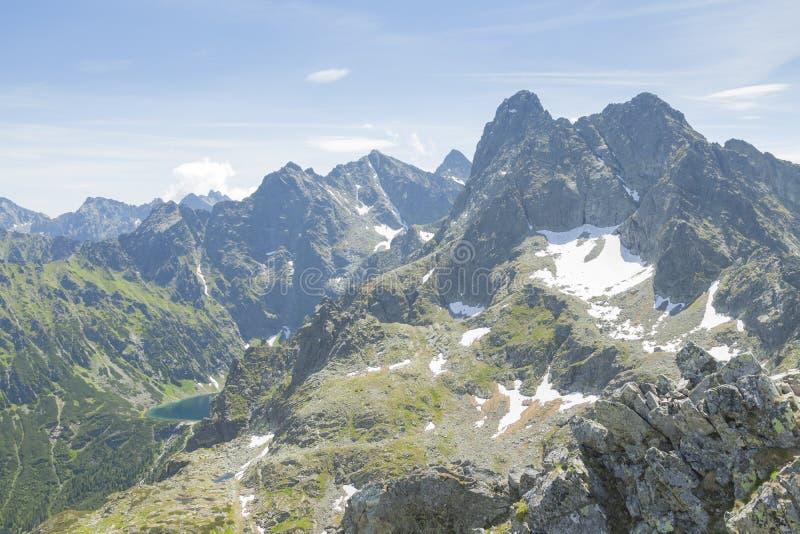 Picos de Polonia/de Eslovaquia de las montañas de Tatra fotografía de archivo