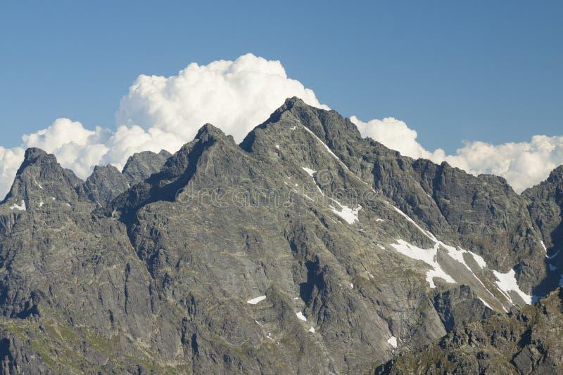 Picos de Polonia/de Eslovaquia de las montañas de Tatra foto de archivo libre de regalías
