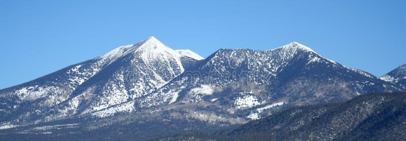 Picos de San Francisco de Arizona en invierno fotos de archivo libres de regalías