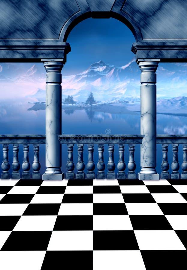 Picos do gelo ilustração do vetor