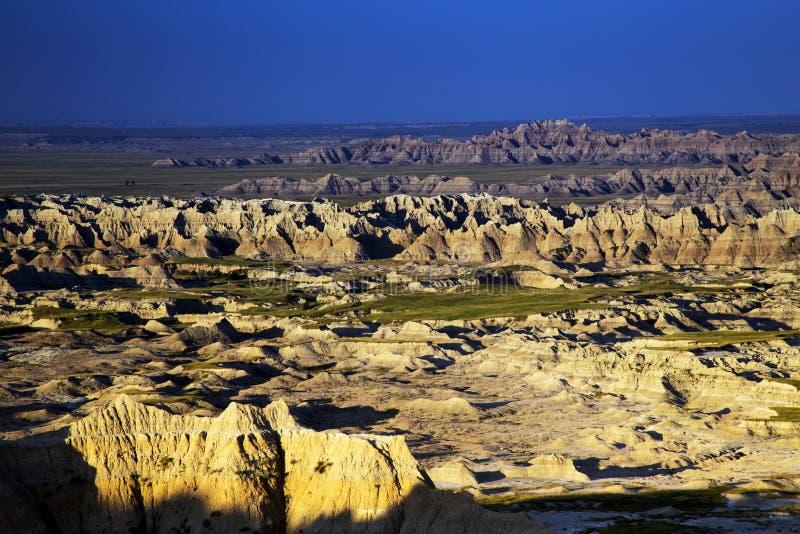 Picos e pináculos de corrosão do parque nacional Dak sul do ermo foto de stock royalty free