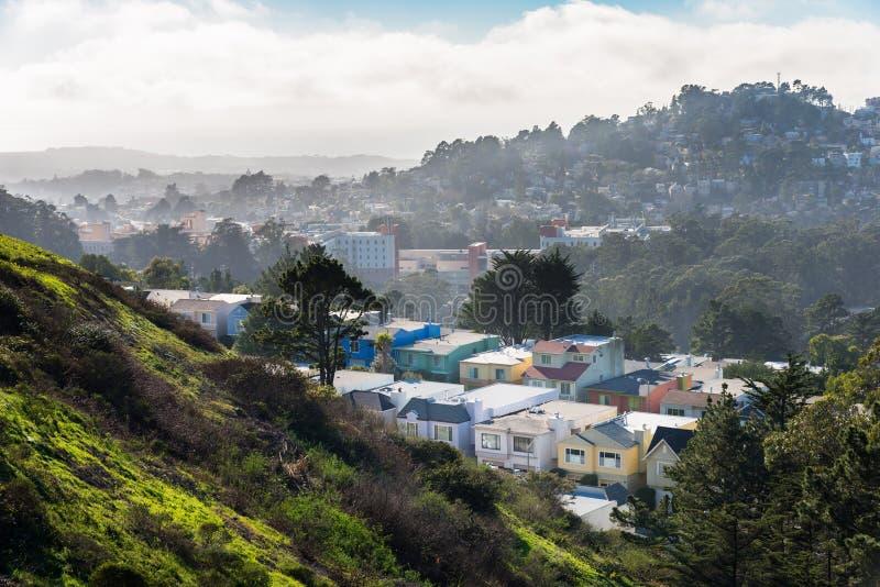 Picos gêmeos, San Francisco, Califórnia, EUA fotos de stock