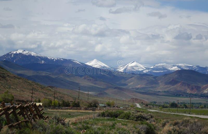 Picos gemelos, Challis, Idaho fotografía de archivo
