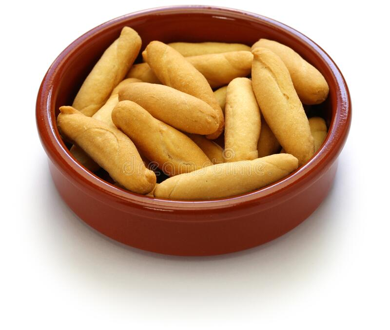 Picos, spanish breadsticks stock images