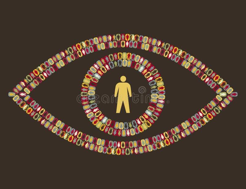 pictogram людей глаза иллюстрация вектора