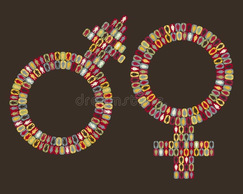pictogram людей женских икон мыжской бесплатная иллюстрация
