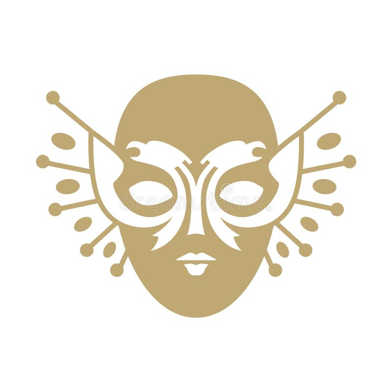 Pictogram av den ryska utm?rkelsen f?r nationell teater och den guld- maskeringsfestivalen royaltyfri illustrationer