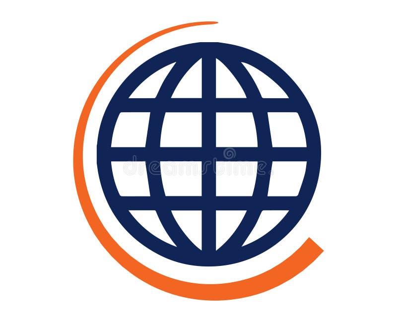 Pictogram av världskartan stock illustrationer